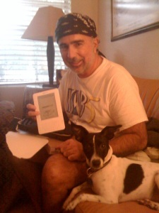My dog Chopper likes the Kindle too