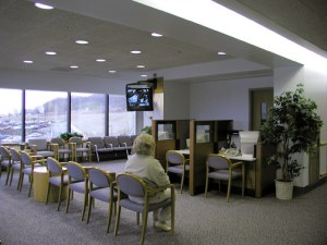 A modern waiting room