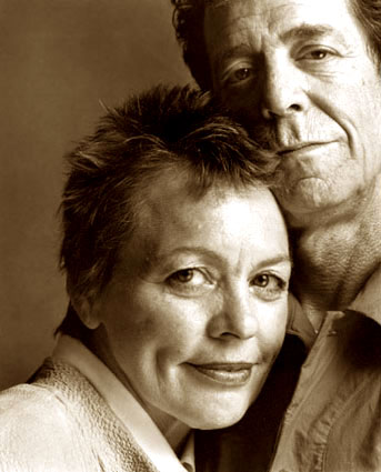 Laurie Anderson (with husband)