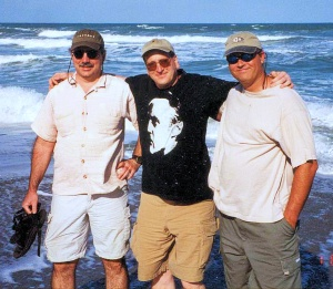 At the beach with John and Mike a couple years back