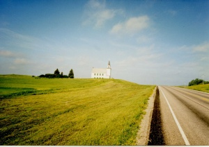 A typical stretch of road in eastern North Dakota